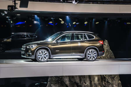 motor show: FRANKFURT - SEPT 2015: BMW X1 xDrive 20d presented at IAA International Motor Show on September 20, 2015 in Frankfurt, Germany Editorial