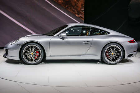 20 s: FRANKFURT - SEPT 2015: Porsche 911 991 Carrera S coupe presented at IAA International Motor Show on September 20, 2015 in Frankfurt, Germany Editorial