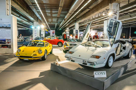 lamborghini: FRANKFURT - SEPT 2015: Lamborghini Countach LP400 1974 presented at IAA International Motor Show on September 20, 2015 in Frankfurt, Germany Editorial