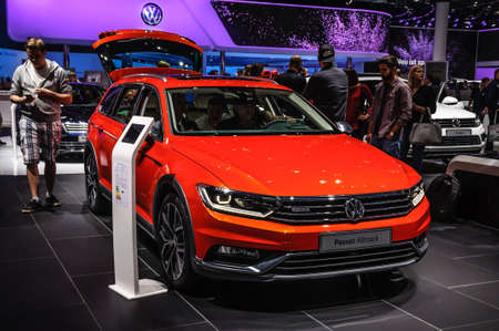 vw: FRANKFURT - SEPT 2015: Volkswagen VW Passat Alltrack presented at IAA International Motor Show on September 20, 2015 in Frankfurt, Germany