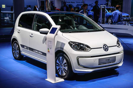 vw: FRANKFURT - SEPT 2015: Volkswagen VW E-Up! presented at IAA International Motor Show on September 20, 2015 in Frankfurt, Germany