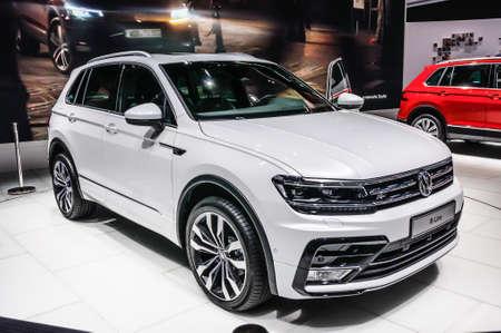 vw: FRANKFURT - SEPT 2015: Volkswagen VW R-Line presented at IAA International Motor Show on September 20, 2015 in Frankfurt, Germany