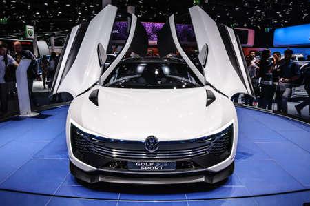 vw: FRANKFURT - SEPT 2015: Volkswagen VW Golf Sport presented at IAA International Motor Show on September 20, 2015 in Frankfurt, Germany