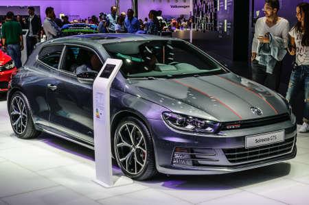 vw: FRANKFURT - SEPT 2015: Volkswagen VW Scirocco GTS presented at IAA International Motor Show on September 20, 2015 in Frankfurt, Germany