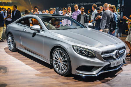20 s: FRANKFURT - SEPT 2015: Mercedes-Benz S 500 4MATIC Coupe presented at IAA International Motor Show on September 20, 2015 in Frankfurt, Germany Editorial