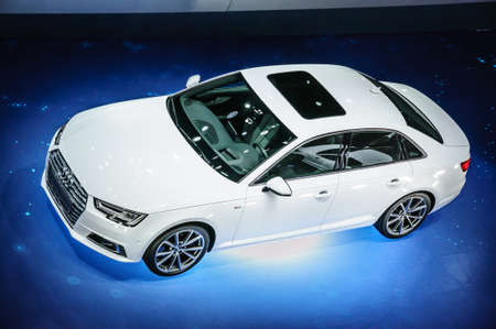iaa: FRANKFURT - SEPT 2015: Audi 3.0 TDI quattro presented at IAA International Motor Show on September 20, 2015 in Frankfurt, Germany
