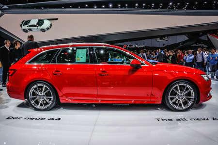 motorshow: FRANKFURT - SEPT 2015: Audi A4 3.0 TDI quattro presented at IAA International Motor Show on September 20, 2015 in Frankfurt, Germany Editorial