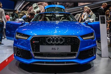 iaa: FRANKFURT - SEPT 2015: Audi RS 7 presented at IAA International Motor Show on September 20, 2015 in Frankfurt, Germany