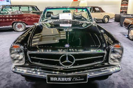 motorshow: FRANKFURT - SEPT 2015: 1969 MERCEDES-BENZ 280SL PAGODA cabrio BRABUS CLASSIC presented at IAA International Motor Show on September 20, 2015 in Frankfurt, Germany
