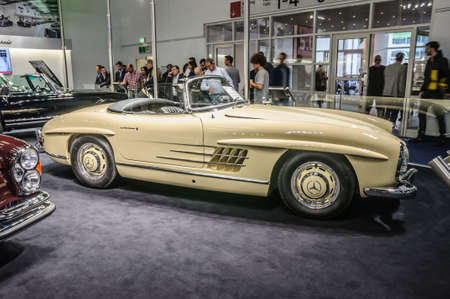 roadster: FRANKFURT - SEPT 2015: 1957 Brabus Classic Mercedes-Benz 300 SL Roadster cabrio presented at IAA International Motor Show on September 20, 2015 in Frankfurt, Germany