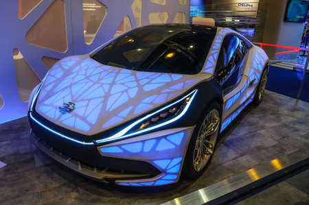 iaa: FRANKFURT - SEPT 2015: Edag Concept car prototype presented at IAA International Motor Show on September 20, 2015 in Frankfurt, Germany Editorial