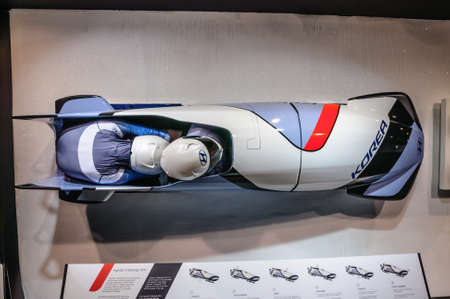 bobsleigh: FRANKFURT - SEPT 2015: Hyundai N Bobsleigh 2016 presented at IAA International Motor Show on September 20, 2015 in Frankfurt, Germany Editorial