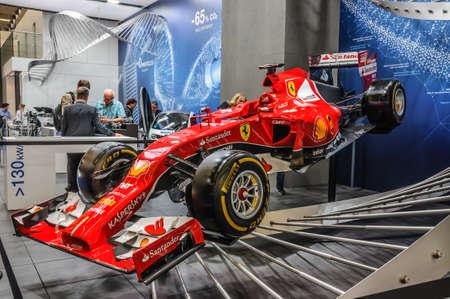 f1: FRANKFURT - SEPT 2015: Ferrari Formula One F1 presented at IAA International Motor Show on September 20, 2015 in Frankfurt, Germany Editorial