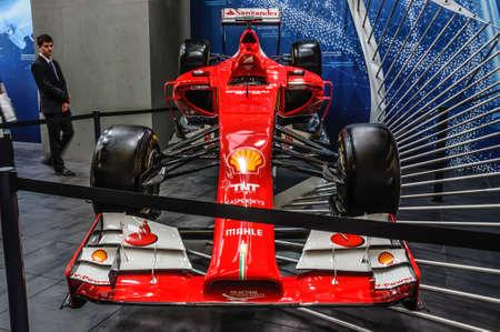 iaa: FRANKFURT - SEPT 2015: Ferrari Formula One F1 presented at IAA International Motor Show on September 20, 2015 in Frankfurt, Germany Editorial