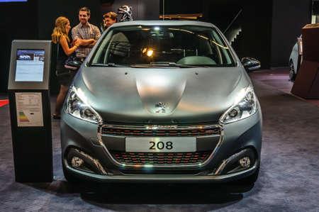 motorshow: FRANKFURT - SEPT 2015: Peugeot 208 presented at IAA International Motor Show on September 20, 2015 in Frankfurt, Germany Editorial