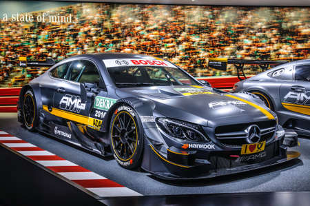 FRANKFURT - SEPT 2015: Mercedes-Benz AMG C63 DTM Coupe presented at IAA International Motor Show on September 20, 2015 in Frankfurt, Germany