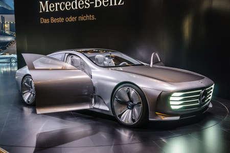 iaa: FRANKFURT - SEPT 2015: Mercedes-Benz Concept IAA presented at IAA International Motor Show on September 20, 2015 in Frankfurt, Germany Editorial