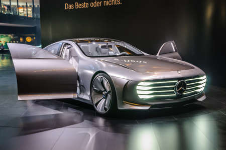 iaa: FRANKFURT - SEPT 2015: Mercedes-Benz Concept IAA presented at IAA International Motor Show on September 20, 2015 in Frankfurt, Germany Editorial