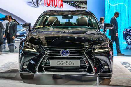 lexus: FRANKFURT - SEPT 2015: Lexus GS450h presented at IAA International Motor Show on September 20, 2015 in Frankfurt, Germany Editorial