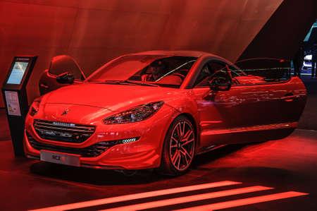 iaa: FRANKFURT - SEPT 2015: Peugeot RCZ R presented at IAA International Motor Show on September 20, 2015 in Frankfurt, Germany