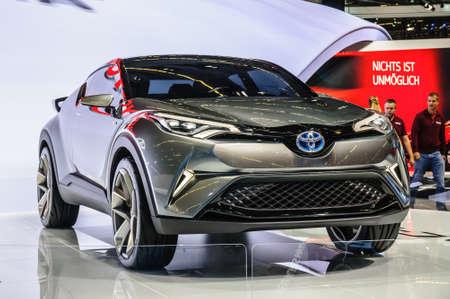 chr: FRANKFURT - SEPT 2015: Toyta C-HR Concept presented at IAA International Motor Show on September 20, 2015 in Frankfurt, Germany