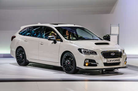 iaa: FRANKFURT - SEPT 2015: Subaru Levorg presented at IAA International Motor Show on September 20, 2015 in Frankfurt, Germany