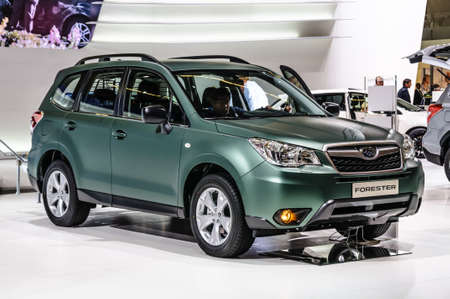 forester: FRANKFURT - SEPT 2015: Subaru Forester presented at IAA International Motor Show on September 20, 2015 in Frankfurt, Germany