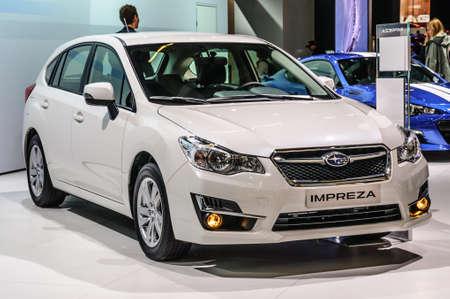 iaa: FRANKFURT - SEPT 2015: Subaru Impreza presented at IAA International Motor Show on September 20, 2015 in Frankfurt, Germany