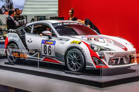 cs: FRANKFURT - SEPT 2015: Toyota CS-V3 GT WTCC WRC presented at IAA International Motor Show on September 20, 2015 in Frankfurt, Germany Editorial