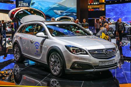 motorshow: FRANKFURT - SEPT 2015: Opel Insignia presented at IAA International Motor Show on September 20, 2015 in Frankfurt, Germany