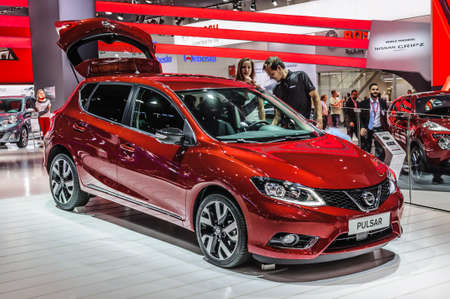 pulsar: FRANKFURT - SEPT 2015: Nissan Pulsar presented at IAA International Motor Show on September 20, 2015 in Frankfurt, Germany