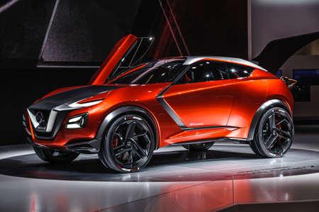 oncept: FRANKFURT - SEPT 2015: Nissan Gripz Concept presented at IAA International Motor Show on September 20, 2015 in Frankfurt, Germany Editorial