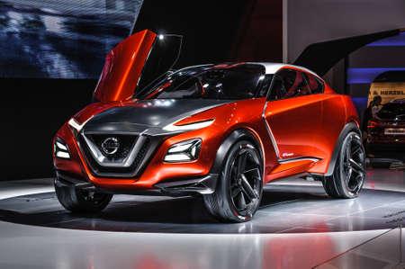 nissan: FRANKFURT - SEPT 2015: Nissan Gripz Concept presented at IAA International Motor Show on September 20, 2015 in Frankfurt, Germany Editorial