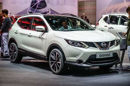 FRANKFURT - SEPT 2015: Nissan Qashqai presented at IAA International Motor Show on September 20, 2015 in Frankfurt, Germany