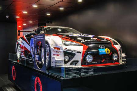 lfa: FRANKFURT - SEPT 2015: Lexus LFA WRC WTCC presented at IAA International Motor Show on September 20, 2015 in Frankfurt, Germany