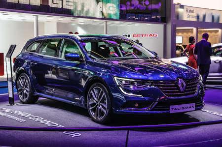 talisman: FRANKFURT - SEPT 2015: Renault Talisman presented at IAA International Motor Show on September 20, 2015 in Frankfurt, Germany