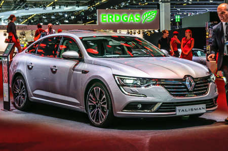 Talisman: FRANKFURT - SEPT 2015: Renault Talisman presented at IAA International Motor Show on September 20, 2015 in Frankfurt, Germany