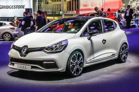 FRANKFURT - SEPT 2015: Renault Clio R.S. presented at IAA International Motor Show on September 20, 2015 in Frankfurt, Germany