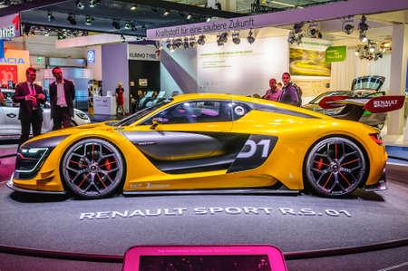01: FRANKFURT - SEPT 2015: Renault Sport R.S. 01 concept presented at IAA International Motor Show on September 20, 2015 in Frankfurt, Germany Editorial