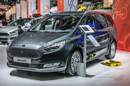 motorshow: FRANKFURT - SEPT 2015: Ford Galaxy presented at IAA International Motor Show on September 20, 2015 in Frankfurt, Germany