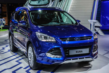 FRANKFURT - SEPT 2015: Ford Kuga presented at IAA International Motor Show on September 20, 2015 in Frankfurt, Germany Editorial