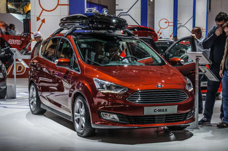 motorshow: FRANKFURT - SEPT 2015: Ford C-Max presented at IAA International Motor Show on September 20, 2015 in Frankfurt, Germany