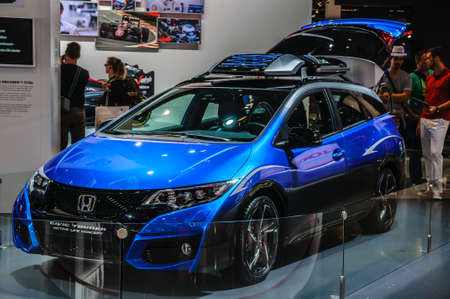 active life: FRANKFURT - SEPT 2015: Honda Civic Tourer Active Life concept presented at IAA International Motor Show on September 20, 2015 in Frankfurt, Germany Editorial