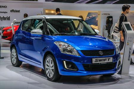 iaa: FRANKFURT - SEPT 2015: Suzuki Swift presented at IAA International Motor Show on September 20, 2015 in Frankfurt, Germany