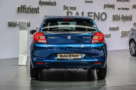 iaa: FRANKFURT - SEPT 2015: Suzuki Baleno presented at IAA International Motor Show on September 20, 2015 in Frankfurt, Germany