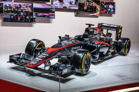 f1: FRANKFURT - SEPT 2015: Honda Formula One F1 presented at IAA International Motor Show on September 20, 2015 in Frankfurt, Germany Editorial