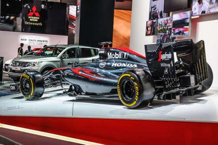 formula one: FRANKFURT - SEPT 2015: Honda Formula One F1 presented at IAA International Motor Show on September 20, 2015 in Frankfurt, Germany Editorial
