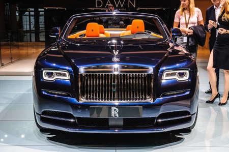 iaa: FRANKFURT - SEPT 2015: Rolls-Royce Phantom Coupe presented at IAA International Motor Show on September 20, 2015 in Frankfurt, Germany