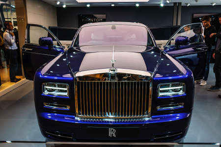 phantom: FRANKFURT - SEPT 2015: Rolls-Royce Phantom presented at IAA International Motor Show on September 20, 2015 in Frankfurt, Germany