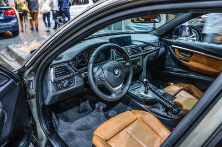 iaa: FRANKFURT - SEPT 2015: BMW 530d presented at IAA International Motor Show on September 20, 2015 in Frankfurt, Germany